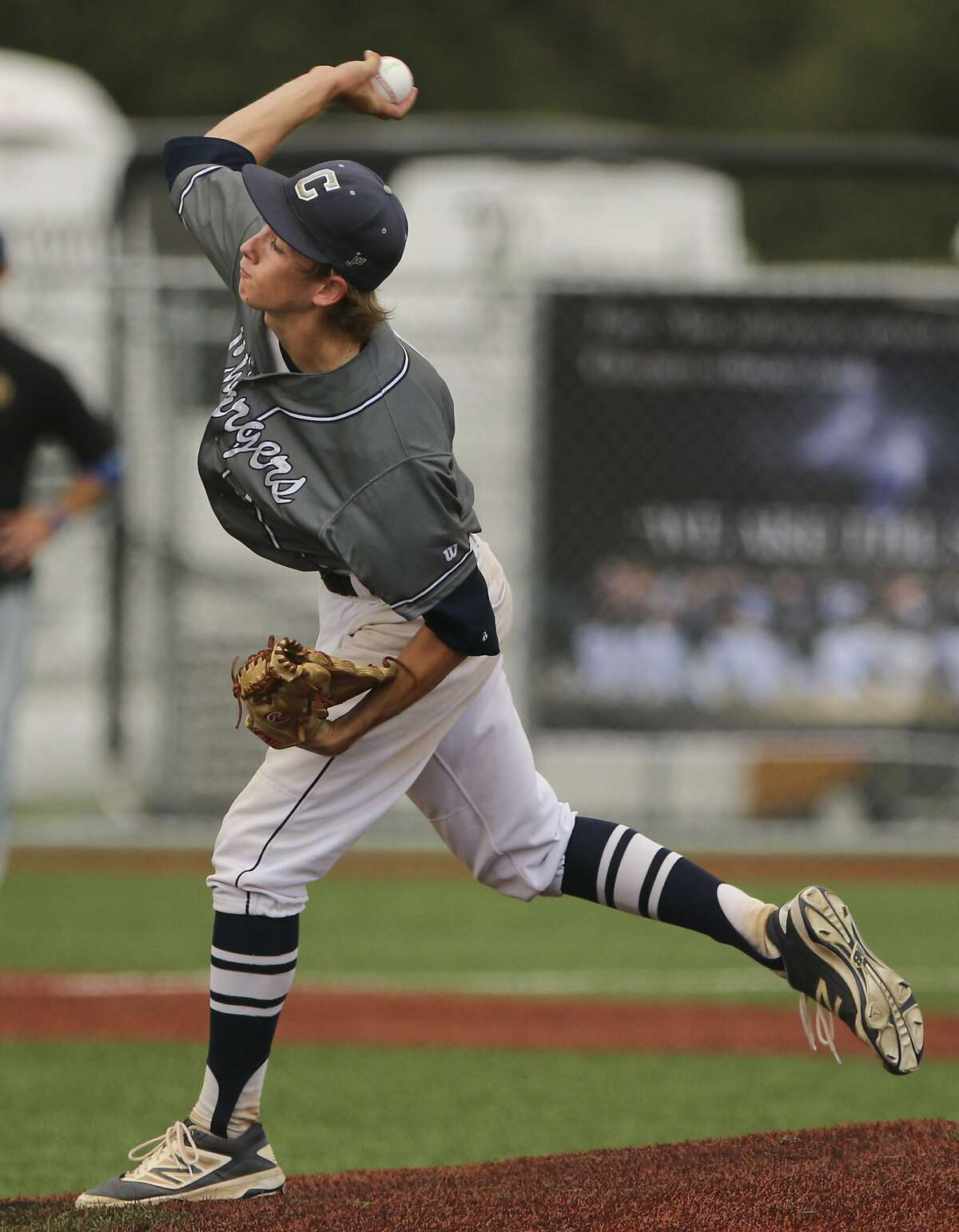 Once Hunter Mason came on in the fourth inning for Champion he nearly matched Forrest Whitley pitch-for -pitch at Coastal Bend College in Beeville, Friday, June 3, 2016.