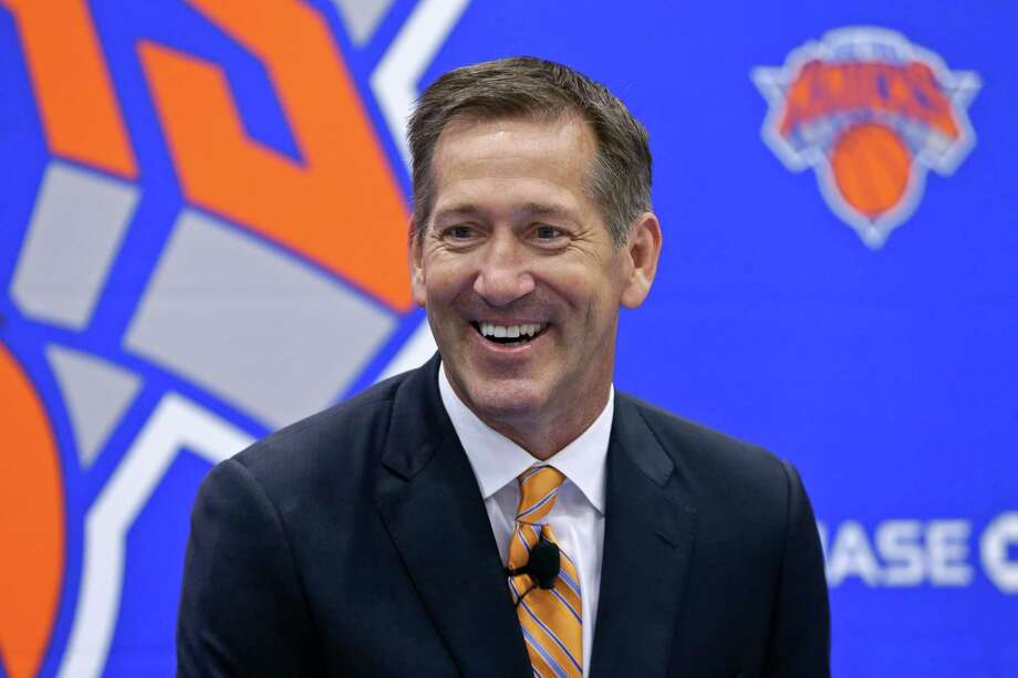 Jeff Hornacek responds to questions during a news conference announcing Hornacek as the New York Knicks' head coach Friday, June 3, 2016, in Tarrytown, N.Y. Hornacek's run ended after just two season. (AP Photo/Frank Franklin II)  Photo: Frank Franklin II / Copyright 2016 The Associated Press. All rights reserved. This m