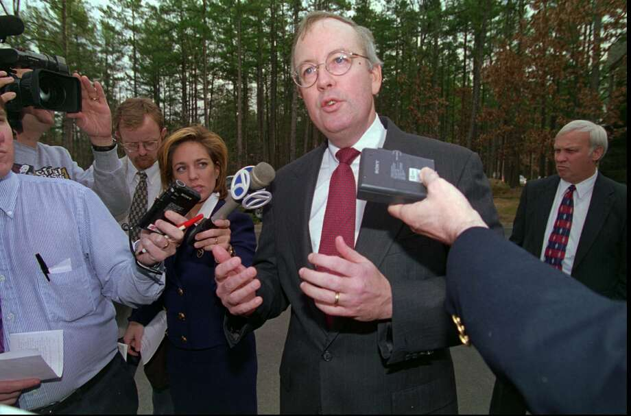 Kenneth Starr broadened the Whitewater investigation to include other controversies involving Bill Clinton, including the president's affair with White House intern Monica Lewinsky. Photo: DANNY JOHNSTON, Staff / AP