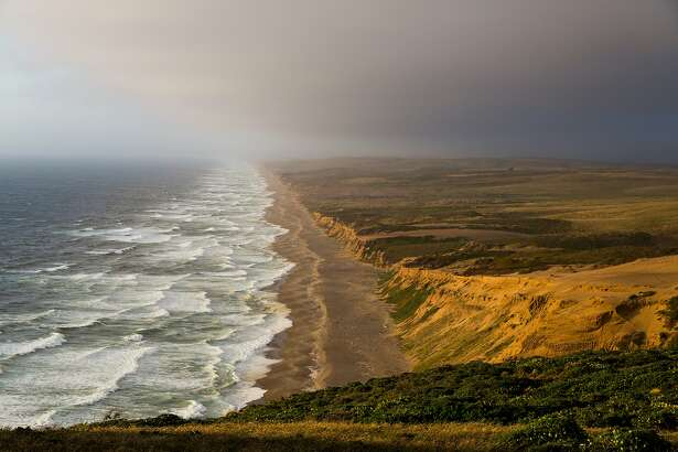 A view looking up the Point Reyes National Seashore in Point Reyes, Calif., Saturday, May 23, 2015.