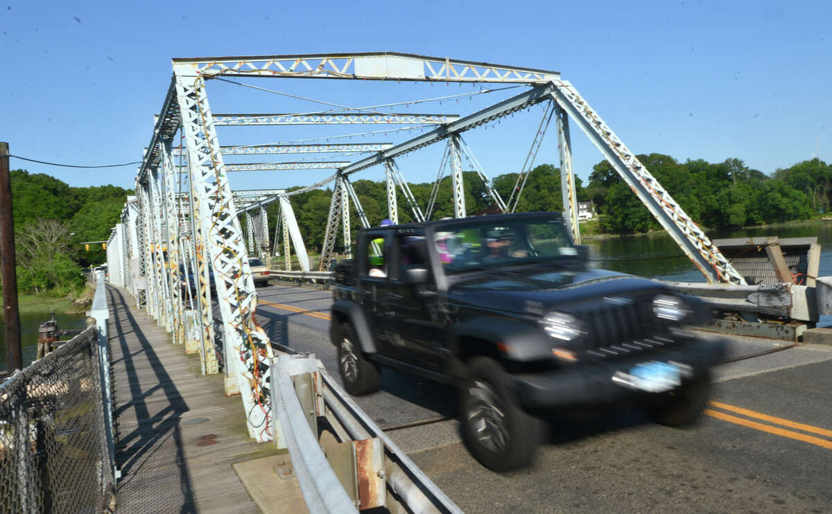 Traffic on the William Cribari Memorial Bridge over the Saugatuck River during rush hour on Tuesday May 31 in Westport, Conn.