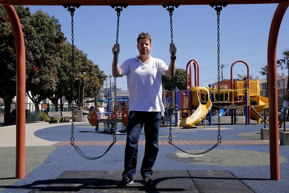 Supervisor Mark Farrell, shown at the South Sunset Playground last year, has several Donald Trump-related ads on his website. Photo: Michael Macor, The Chronicle