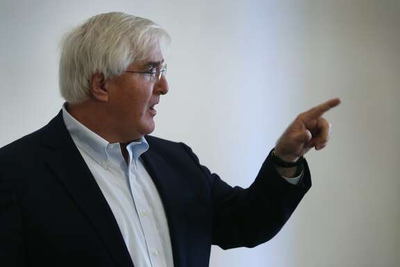Silicon Valley investor Ron Conway speaks at a news conference before a smart gun symposium in San Francisco, Calif. on Tuesday, Feb. 23, 2016.
