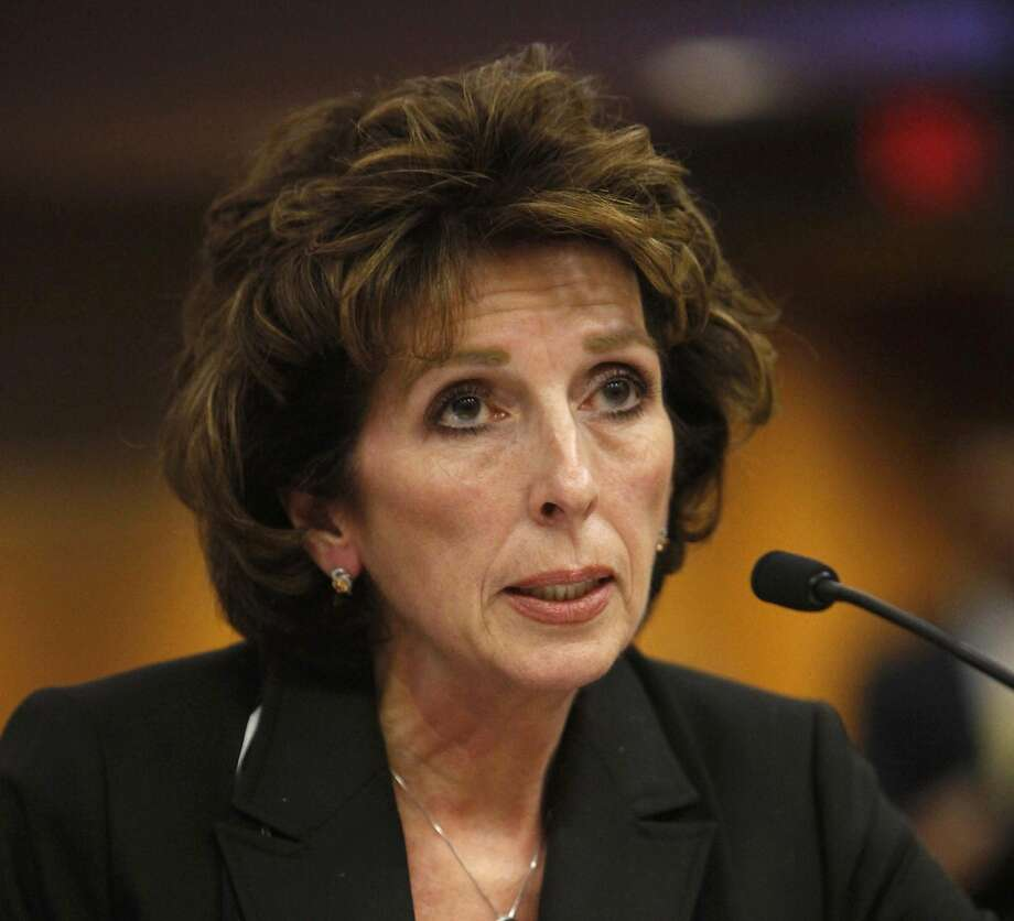 FILE - In this Dec. 14, 2011 file photo, University of California, Davis, Chancellor Linda Katehi, told lawmakers  that she never ordered campus police to use force or pepper spray on students last month, while testifying at a legislative hearing at the Capitol in Sacramento, Calif. Katehi has been placed on leave amid an uproar stemming in part from the school's hiring of consultants to improve its image, following a widely criticized protest pepper spraying incident by police. UC President Janet Napolitano's office announced Wednesday, April 27, 2016, that she is appointing an outside investigator to determine whether the actions of Chancellor Katehi have violated university policies.  (AP Photo/Rich Pedroncelli, File) Photo: Rich Pedroncelli, Associated Press