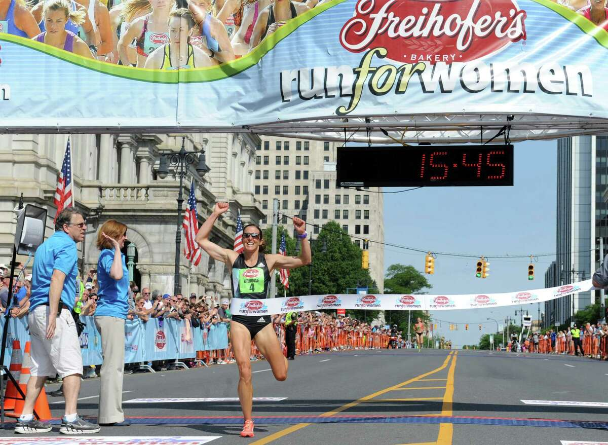Brianne Nelson of Golden, CO, wins the 38th Freihofer's Run for Women on Saturday June 4, 2016 in Albany, N.Y. (Michael P. Farrell/Times Union)