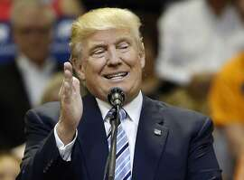 FILE - In this May 26, 2016, file photo, Republican presidential candidate Donald Trump speaks at a campaign rally at the Rimrock Auto Arena, in Billings, Mont. Trump, meet public accountability. The real estate magnate-turned presidential candidate is fussing over probes into whether his promises match his deeds and whether his deeds were legal. But scrutiny is a fact of life for any aspiring public official, even more so for those who win office. Multiply that, should Trump win the presidency. (AP Photo/Brennan Linsley, File)