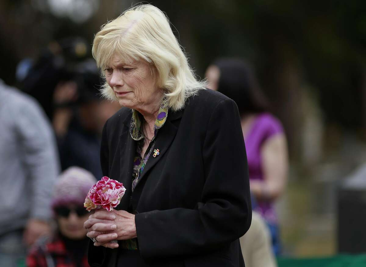 Petite Sousa of San Anselmo during the reburial of Edith Howard Cook, the girl from the 1800's whose body and coffin were found under the floor of an San Francisco home. The ceremony taking place at the Greenlawn Memorial Park Cemetery in Colma, California on Sat. June 4, 2016.