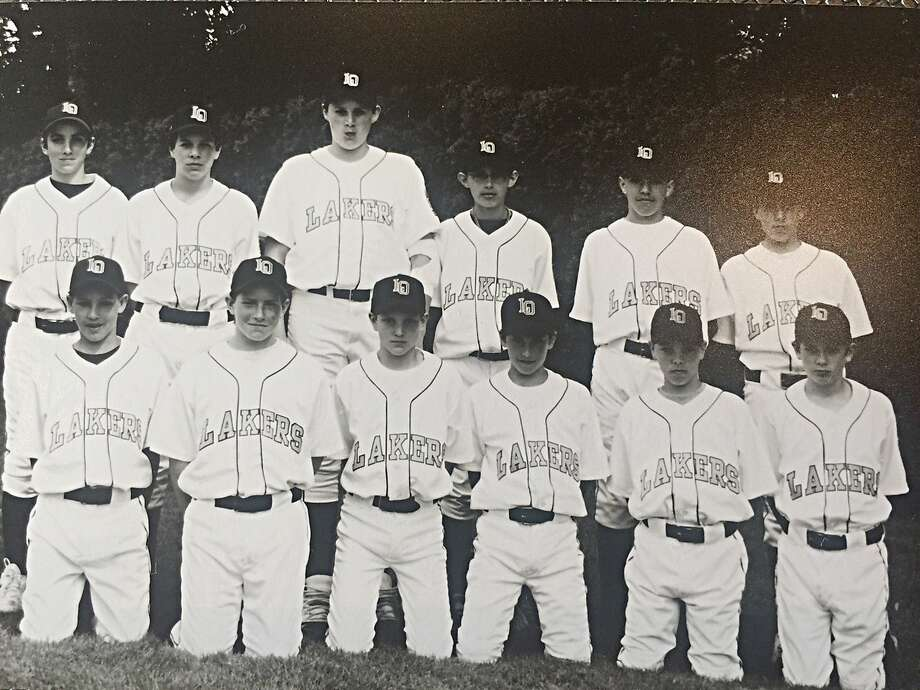 As childhood friends in Oregon, Klay Thompson (bottom left) and Kevin Love (back row, third from left) played together on the Lake Oswego Lakers' Little League All-Star team in 2001. Photo: Photo Courtesy Of Jen Beyrle