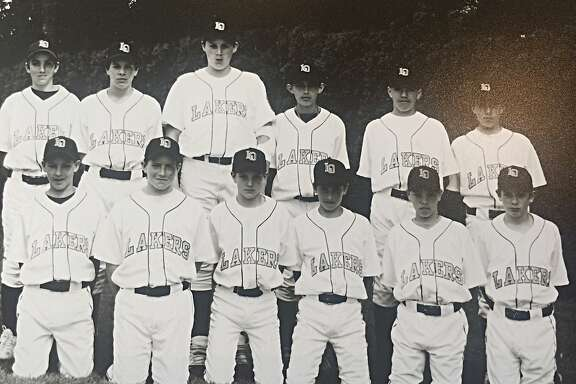 Klay Thompson (bottom left) and Kevin Love (back row, third from left) played together on the Lake Oswego Lakers' all-star team in 2001. Thompson was the only fifth grader on a squad for fifth and sixth graders.