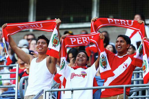 Peru fans cheer during the Copa America Centenario game between Haiti and Peru, Saturday, May 4, 2016 at CenturyLink Field. Peru won 1-0.