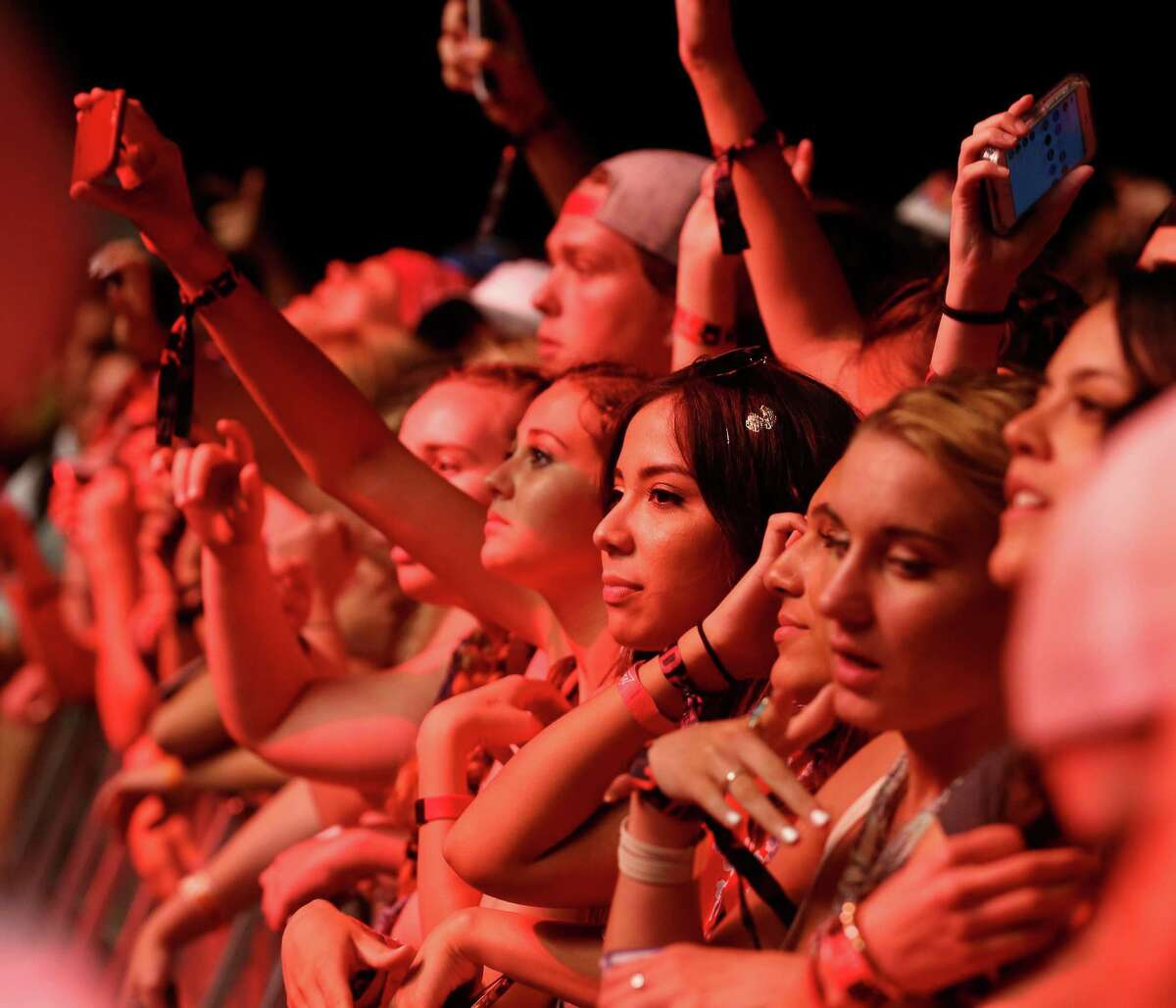 Fans wait for Collegrove to perform at Free Press Summer Fest, at NRG, Saturday, June 4, 2016, in Houston.