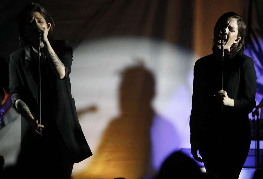 """Tegan and Sara perform at Tumblr IRL (In Real Life) on Saturday, June 4, 2016 inSan Francisco, California. This comes oneday just one day after releasing their new album """"Love You To Death."""" Photo: Michael Noble Jr., The Chronicle"""