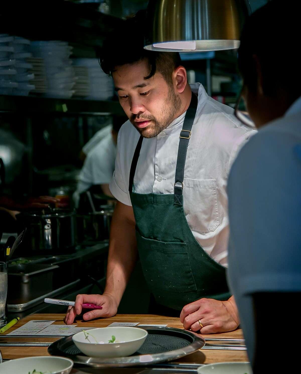 Chef Brandon Jew of Mister Jiu's in San Francisco, California is seen on June 4th, 2016.