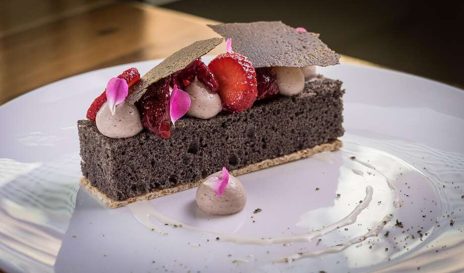 Black sesame cake at Mister Jiu's. Photo: John Storey / Special To The Chronicle 2016