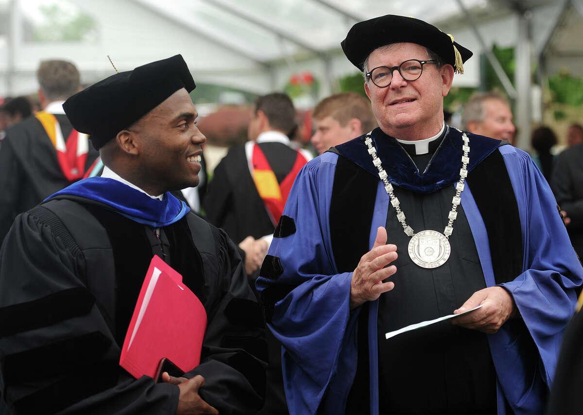 The Fairfield College Preparatory School graduation at Alumni Hall at Fairfield University in Fairfield, Conn. on Sunday, June 5, 2016.