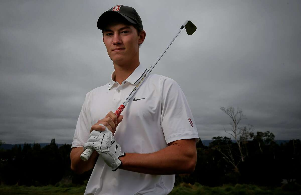 Stanford golfer Maverick McNealy, the consensus national player of the year in 2015 and No. 2-ranked amateur in the world during a recent practice on Tuesday December 8, 2015, in Stanford, Calif.