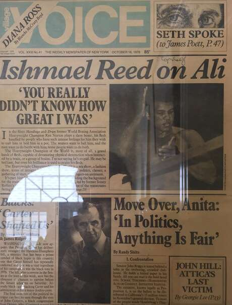 Ishmael Reed covered the 1978 Ali-Spinks prizefight for the Village Voice. Photo: Village Voice