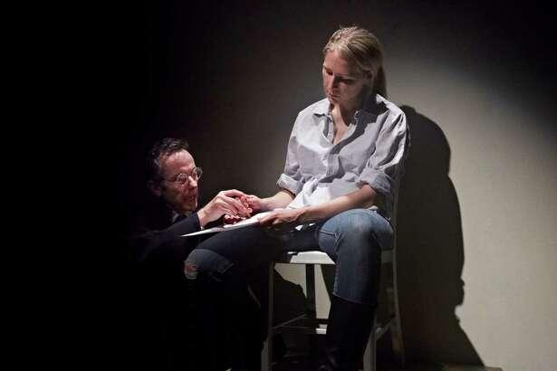 "Stephan Wolfert and Samantha Steinmetz in a scene from Stark Naked Theatre's ""Saint Joan."""