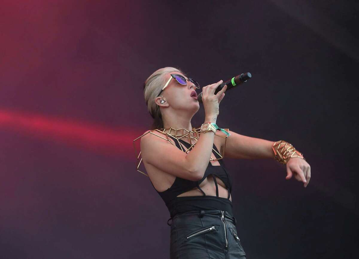 Big Grams performs at Free Press Summer Fest, at NRG, after a weather evacuation delayed the festival about an hour, Sunday, June 5, 2016, in Houston.