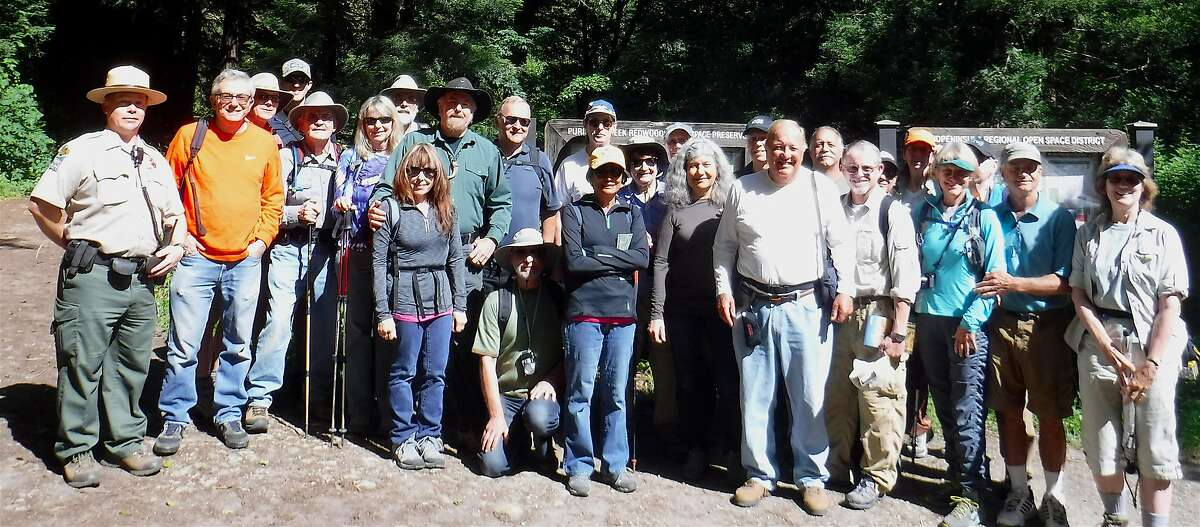 Chronicle readers won a lottery to join outdoors writer Tom Stienstra on a hike last week at Purisima Creek Redwoods Open Space Preserve on the Peninsula. The hike is part of a rewards program for subscriber members.