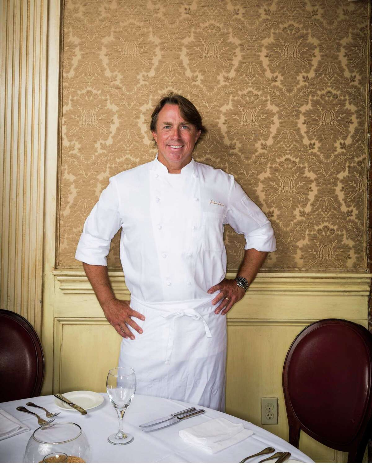 Chef John Besh poses for a portrait at Restaurant August in New Orleans.