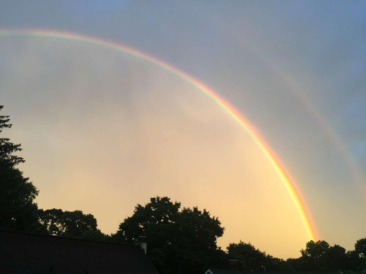 Double rainbow in Cos Cob on June 5, 2016.