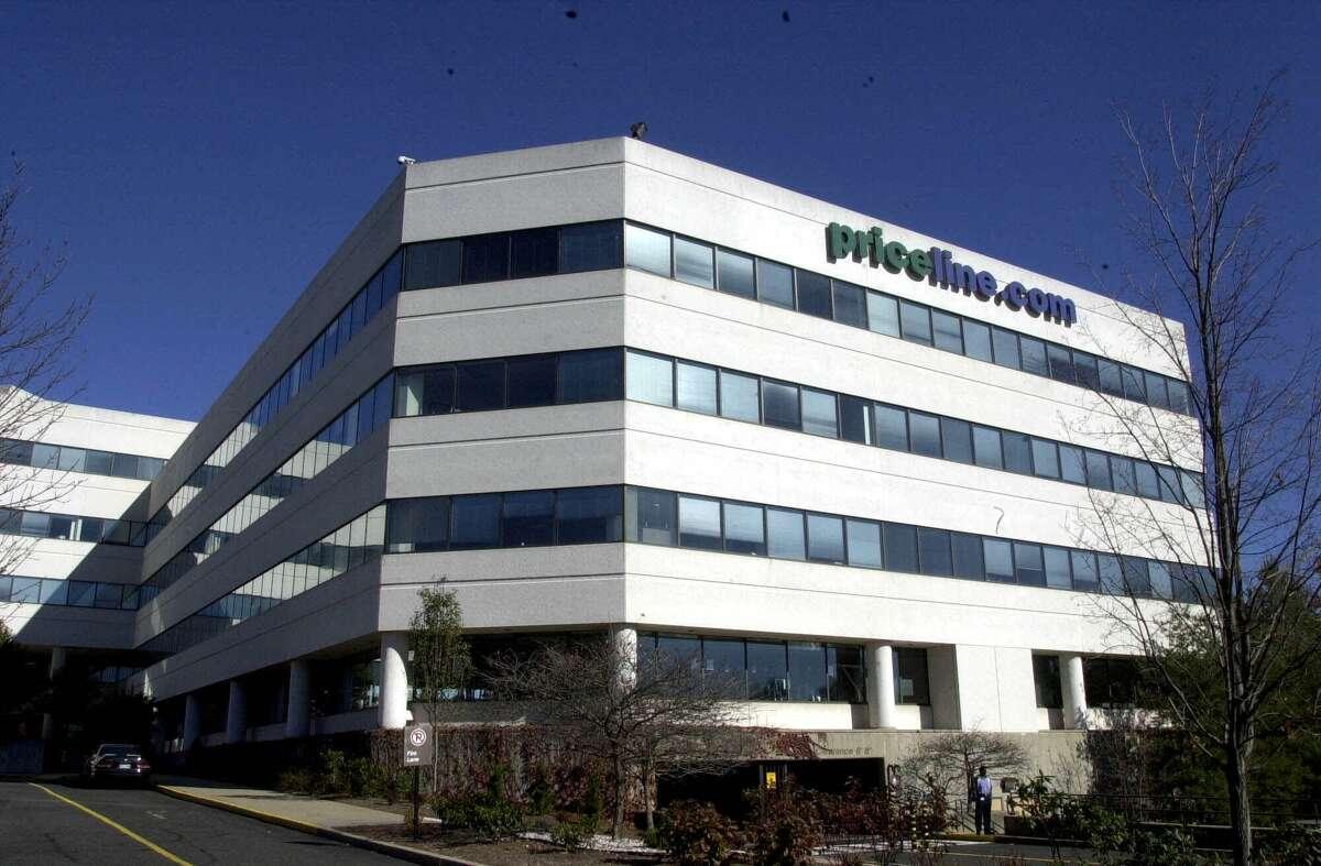 FILE - This Thursday, Nov. 2, 2000, file photo, shows Priceline.com's headquarters in Norwalk, Conn. (AP Photo/Douglas Healey, File)