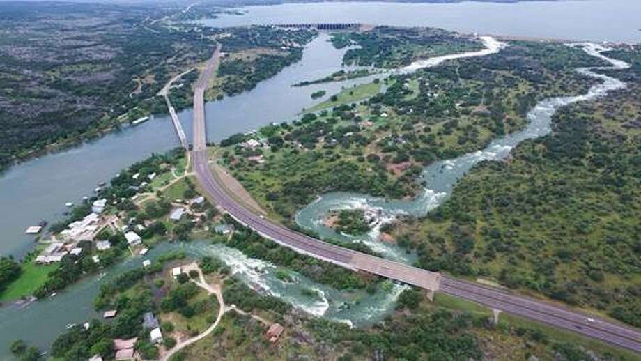 Tracey Osment, a Texas videographer, flew his drone over Central Texas' Highland Lakes from May 31 through June 2, 2016 as floodgates opened on Lake Buchanan. Photo: Tracey Osment