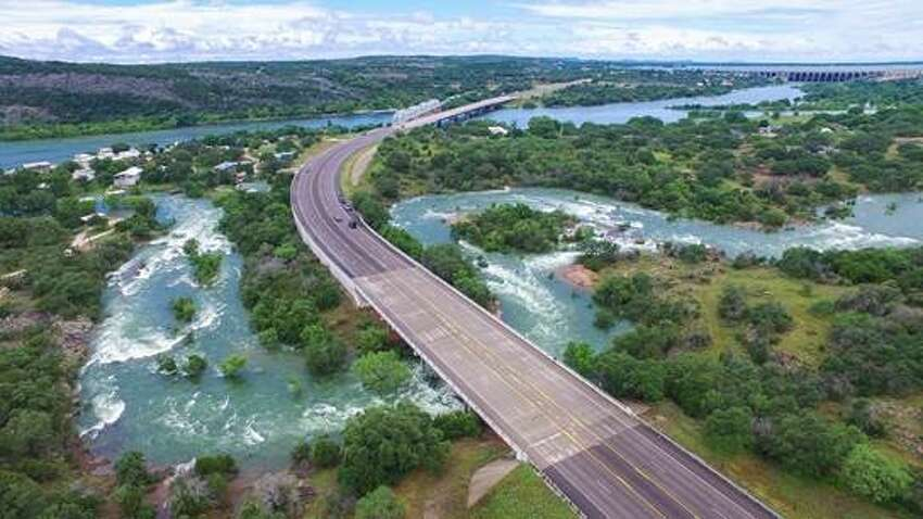 Tracey Osment, a Texas videographer, flew his drone over Central Texas' Highland Lakes from May 31 through June 2, 2016 as floodgates opened on Lake Buchanan.
