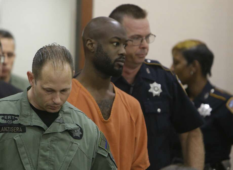 Andre Timothy Jackson, who is accused of fatally stabbing 11-year-old Josue Flores is shown in a Houston on June 6. Photo: Melissa Phillip/ Houston Chronicle