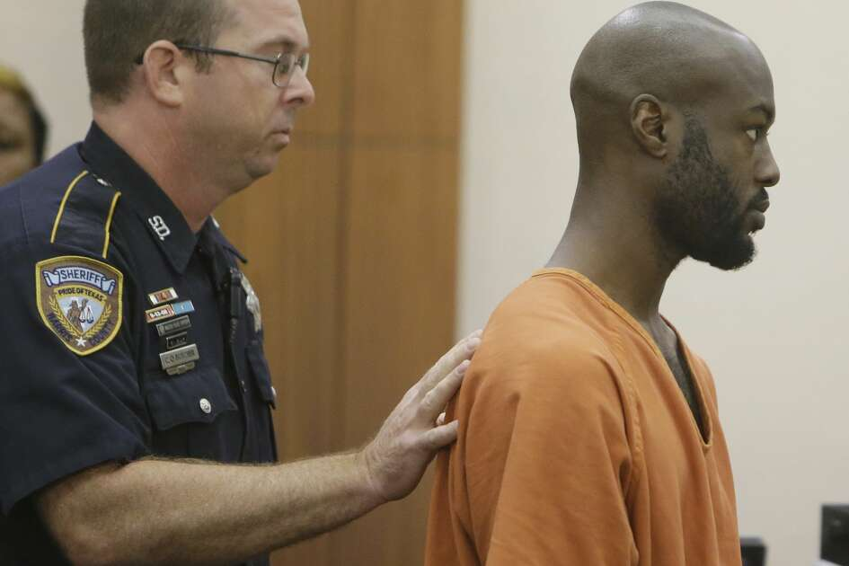 Andre Timothy Jackson, who is accused of stabbing death of 11-year-old, Josue Flores, is shown during court appearance at Criminal Courthouse, 1201 Franklin, Monday, June 6, 2016. ( Melissa Phillip/ Houston Chronicle)