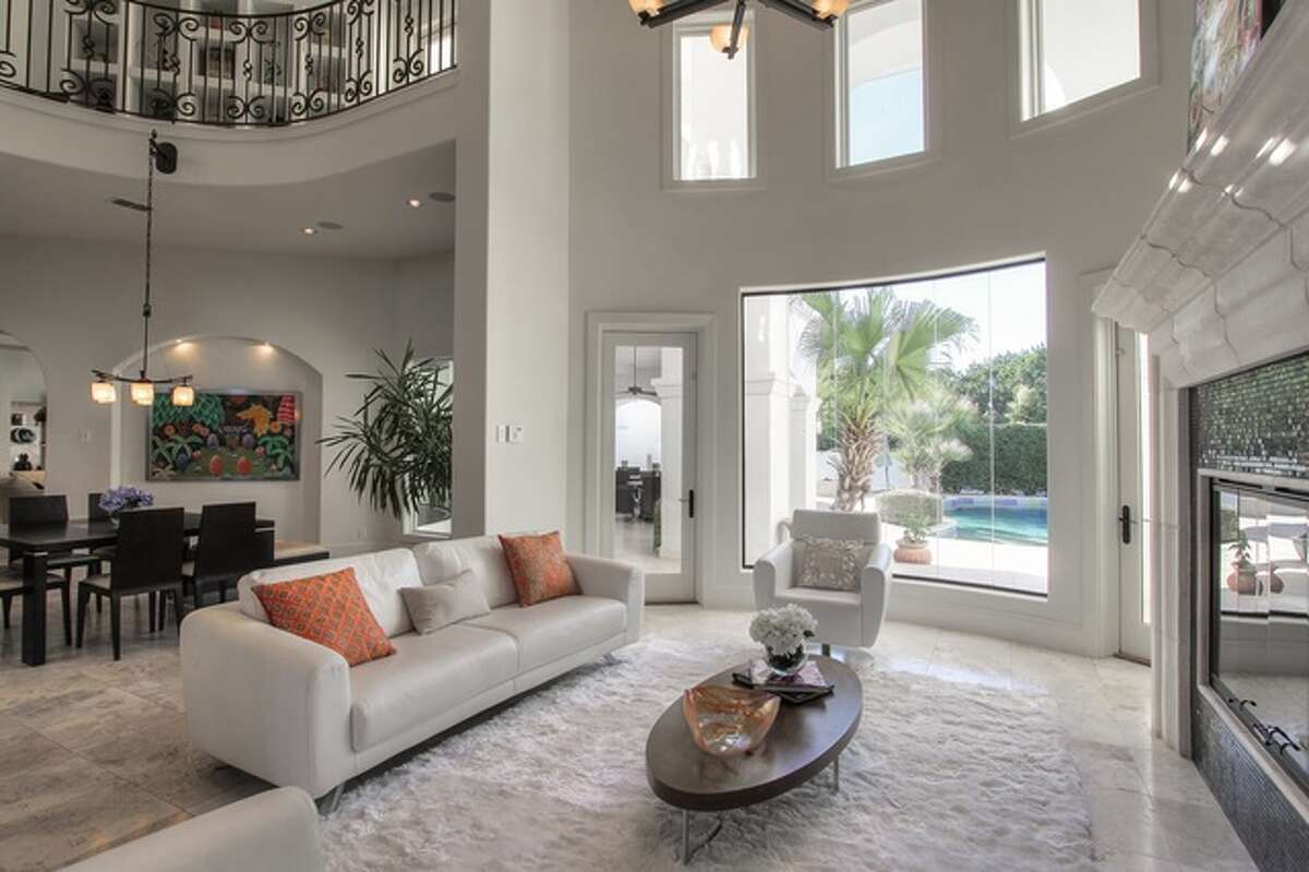 Indoors, the home spans 6,405 square feet and two floors.