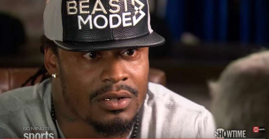 In an interview airing Tuesday, former Seahawks running back Marshawn Lynch told '60 Minutes Sports' he's done playing football. Photo: Showtime Sports