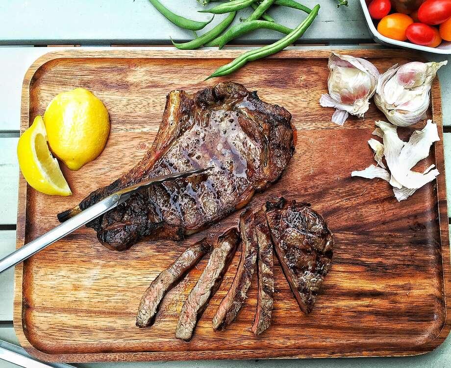 Florentine-style Rib-Eye Steak Photo: Amanda Gold/The Chronicle
