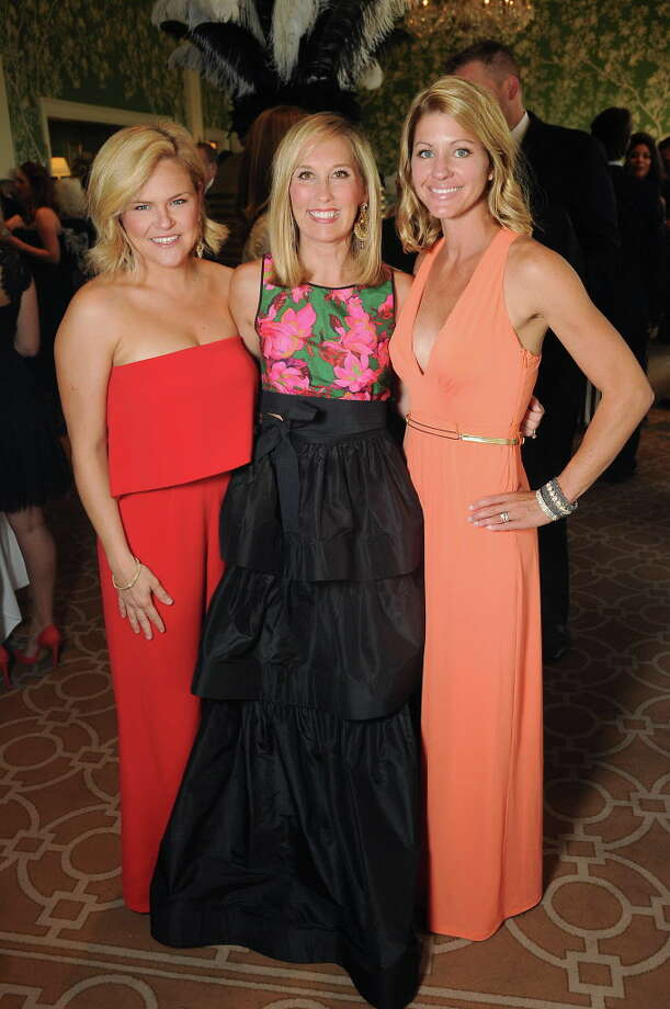 From left: Mindy Ryan, Lexie Boudreaux and Diana Harper at the Leukemia & Lymphoma Society's Man & Women of the Year dinner at the River Oaks Country Club Friday June 3,2016(Dave Rossman Photo) Photo: Dave Rossman, For The Chronicle / Dave Rossman