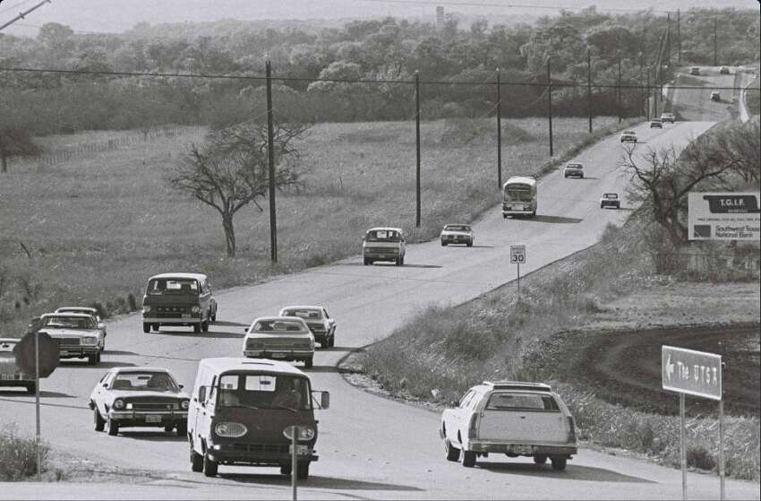 The road to the the University of Texas San Antonio's main campus looked a bit different in 1969.