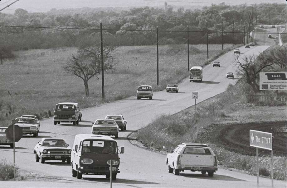 The road to the the University of Texas San Antonio's main campus looked a bit different in 1969. Photo: UTSA Courtesy Photo