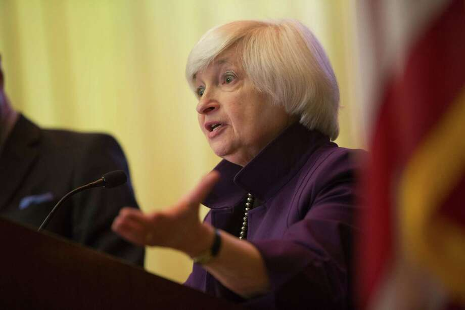 """Federal Reserve Chair Janet Yellen delivers a speech on economic outlook and monetary policy Monday in Philadelphia. The Fed chair said she is watching """"four areas of uncertainty"""" in the economic outlook, including weak investment trends and last week's employment report. Photo: Jessica Kourkounis /Getty Images / 2016 Getty Images"""