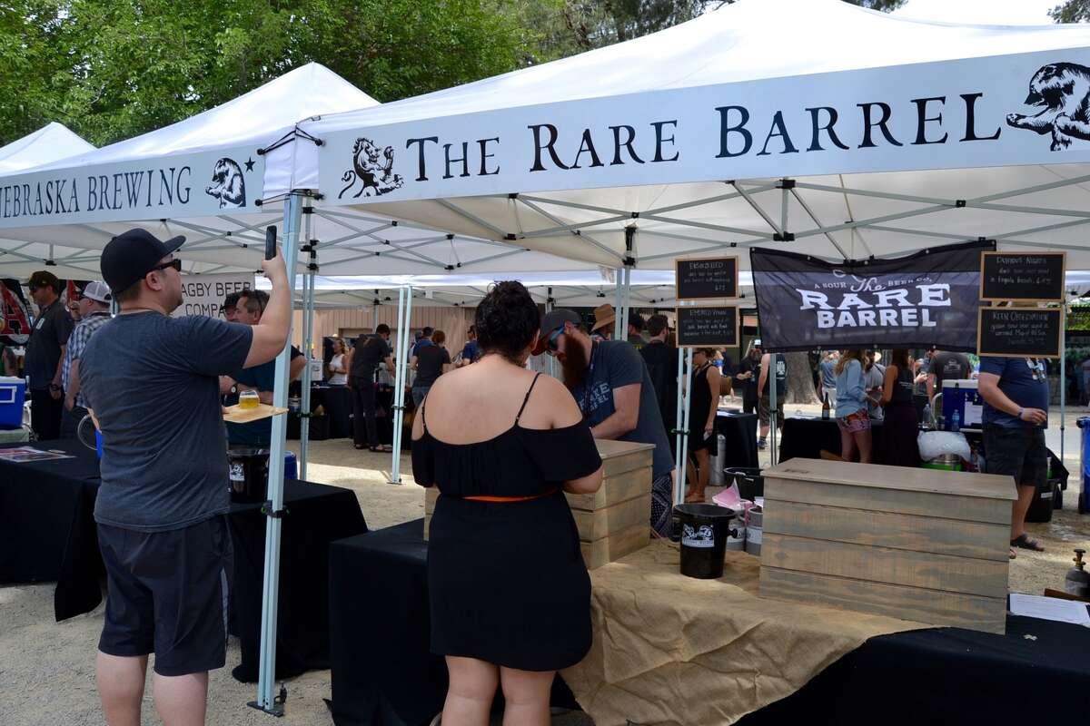 Berkeley's The Rare Barrel's tent atthe Firestone Walker Invitational Beer Festival on June 4, 2016.
