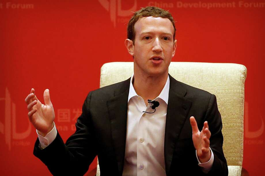 FILE - In this Saturday, March 19, 2016, file photo, Facebook CEO Mark Zuckerberg speaks during a panel discussion held as part of the China Development Forum at the Diaoyutai State Guesthouse in Beijing. Photo: Mark Schiefelbein, AP / Copyright 2016 The Associated Press. All rights reserved. This material may not be published, broadcast, rewritten or redistribu