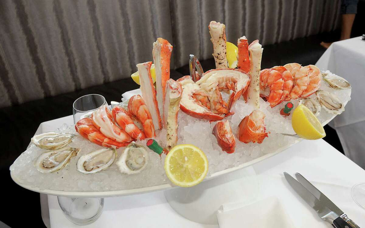 The seafood tower at the new Steak 48 restaurant in the River Oaks District.