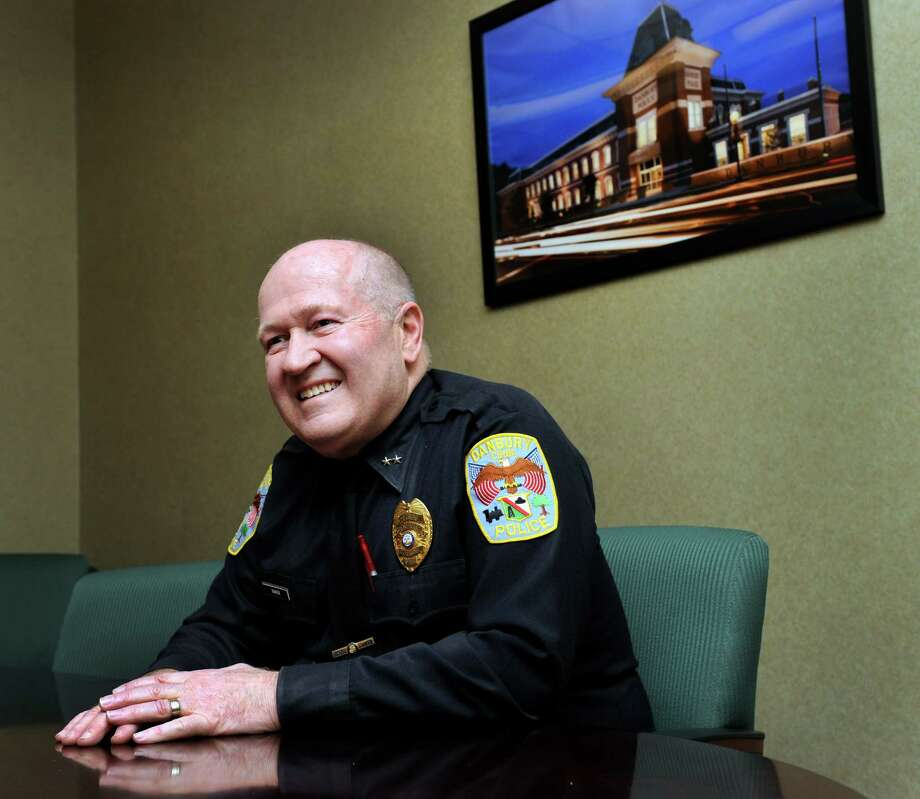 Danbury Police Chief Al Baker, who is retiring in June, talks about his time in Danbury, Friday, February 5, 2016. Photo: Carol Kaliff / Hearst Connecticut Media / The News-Times