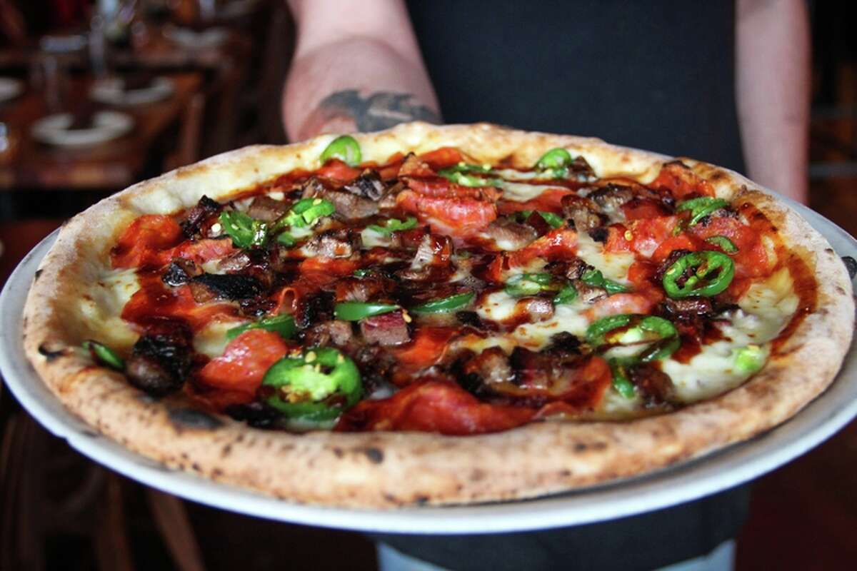 Pizza from Cane Rosso, a Dallas-based pizza restaurant opening in the Heights at 1835 N. Shepherd.