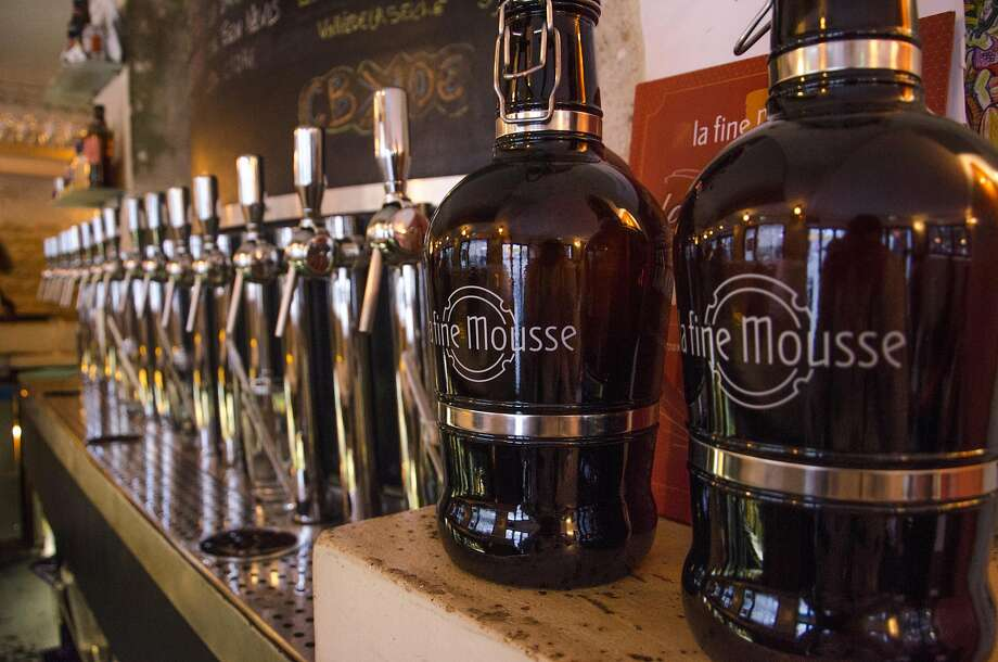 With a wide selection of craft beers on tap paired with food, La Fine Mousse in Paris is among a growing number of breweries in a nation known for its wine. Photo: Nono La Mine, Special To The Chronicle