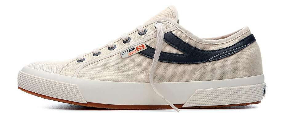 Italian sport shoemaker Superga is introducing a new Superga Sport tennis shoe for men this month. In the Bay Area, it will be carried exclusively at the Superga store on Fillmore Street in San Francisco. Photo: Superga