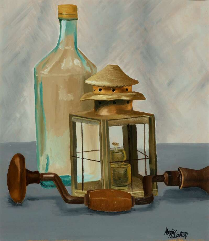 Alexa McCarthy, Still Life with Lantern, 2015, oil paint on canvas (http://www.nysm.nysed.gov)