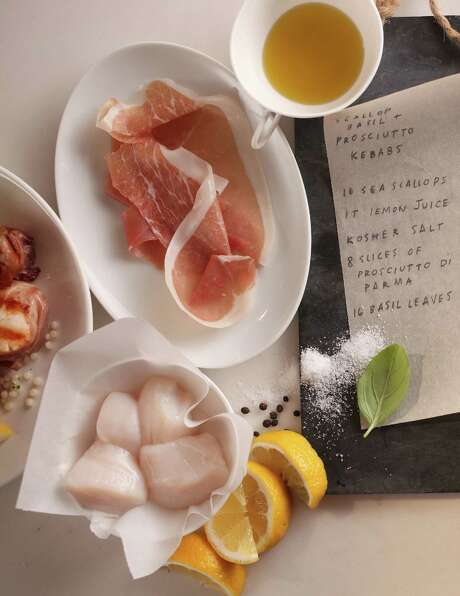 Citrus-Marinated Scallop and Prosciutto Kebabs require no more than 15 minutes hands-on time and 40 minutes total from start to finish. Photo: James Ogle, HONS / Silver Plume Production LLC