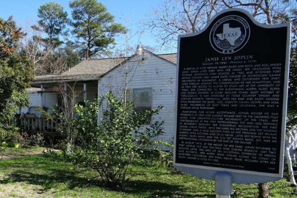 Janis Joplin's childhood home, located at 4330 32nd St. in Port Arthur, is for sale for $500,000.