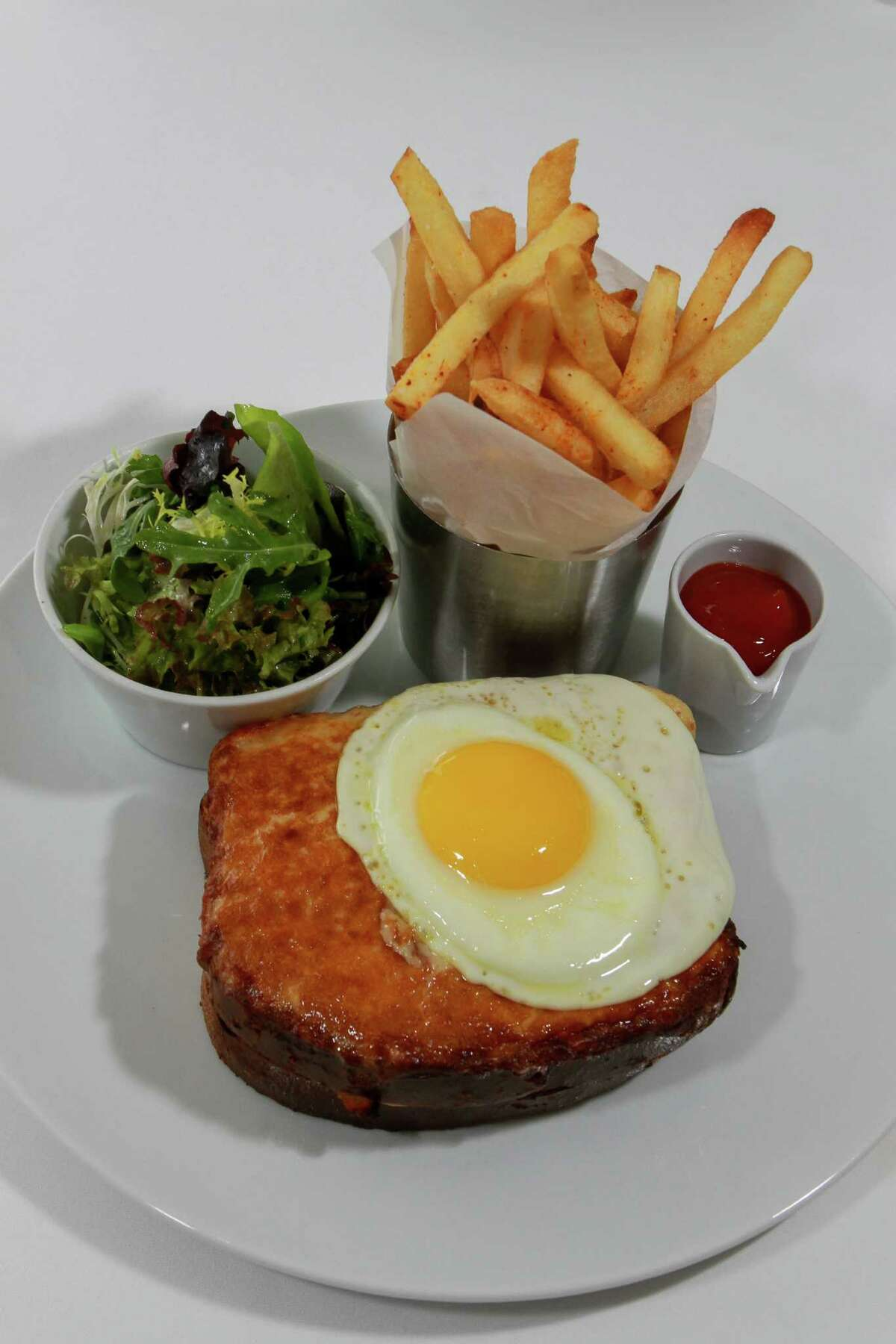 La Table Cuisine:FrenchEntree price:$$-$$$$Where:1800 Post OakPhone:713-439-1000Website:latablehouston.comRead Alison Cook's review La Table.Pictured above:Croque Madame