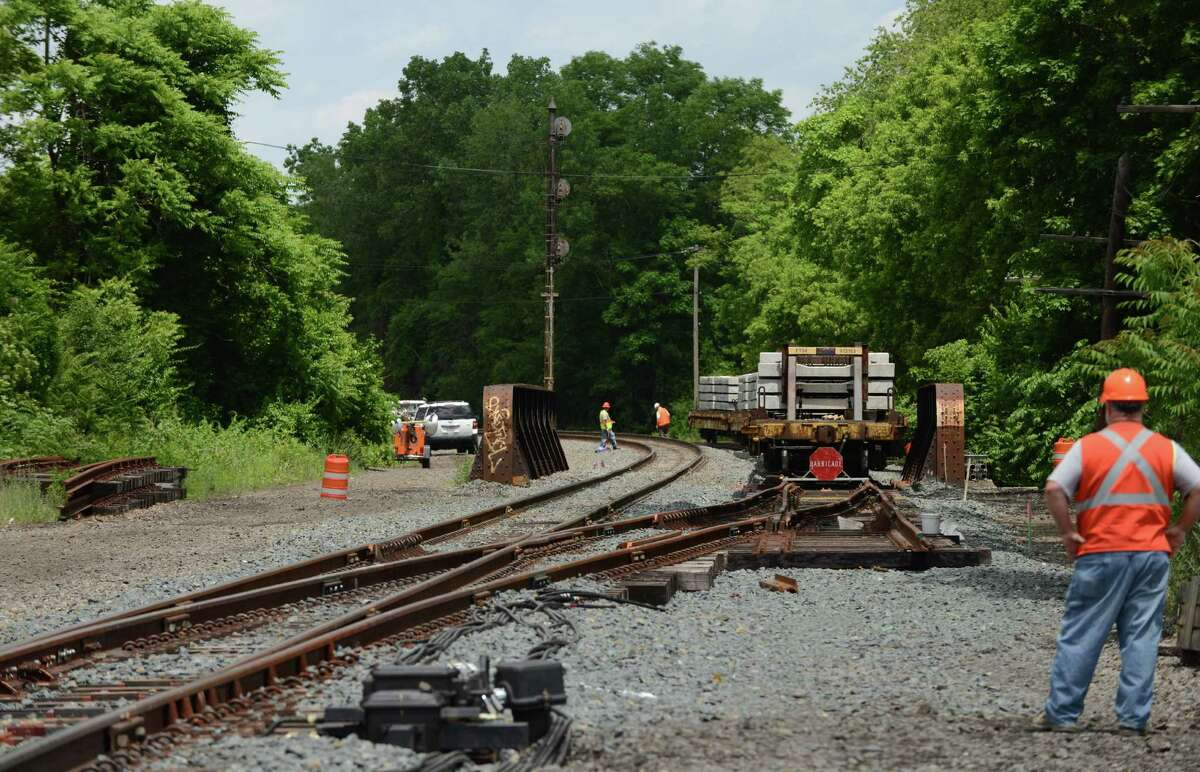 Workers begin adding a second train track near Broadway and North Pearl Street on Monday, June 6, 2016, in Albany, N.Y. The second track between Albany and Schenectady will remove a bottleneck on Amtrak?'s Empire Corridor connecting New York City and Buffalo. (Will Waldron/Times Union)